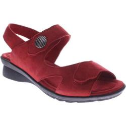 Women's Spring Step Divertente Red Nubuck