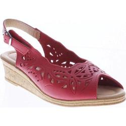 Women's Spring Step Orella Red Leather