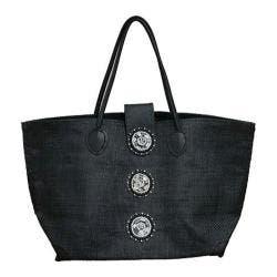Women's Bamboo54 Encrusted Circles Tote Bag Black https://ak1.ostkcdn.com/images/products/88/613/P17238369.jpg?impolicy=medium