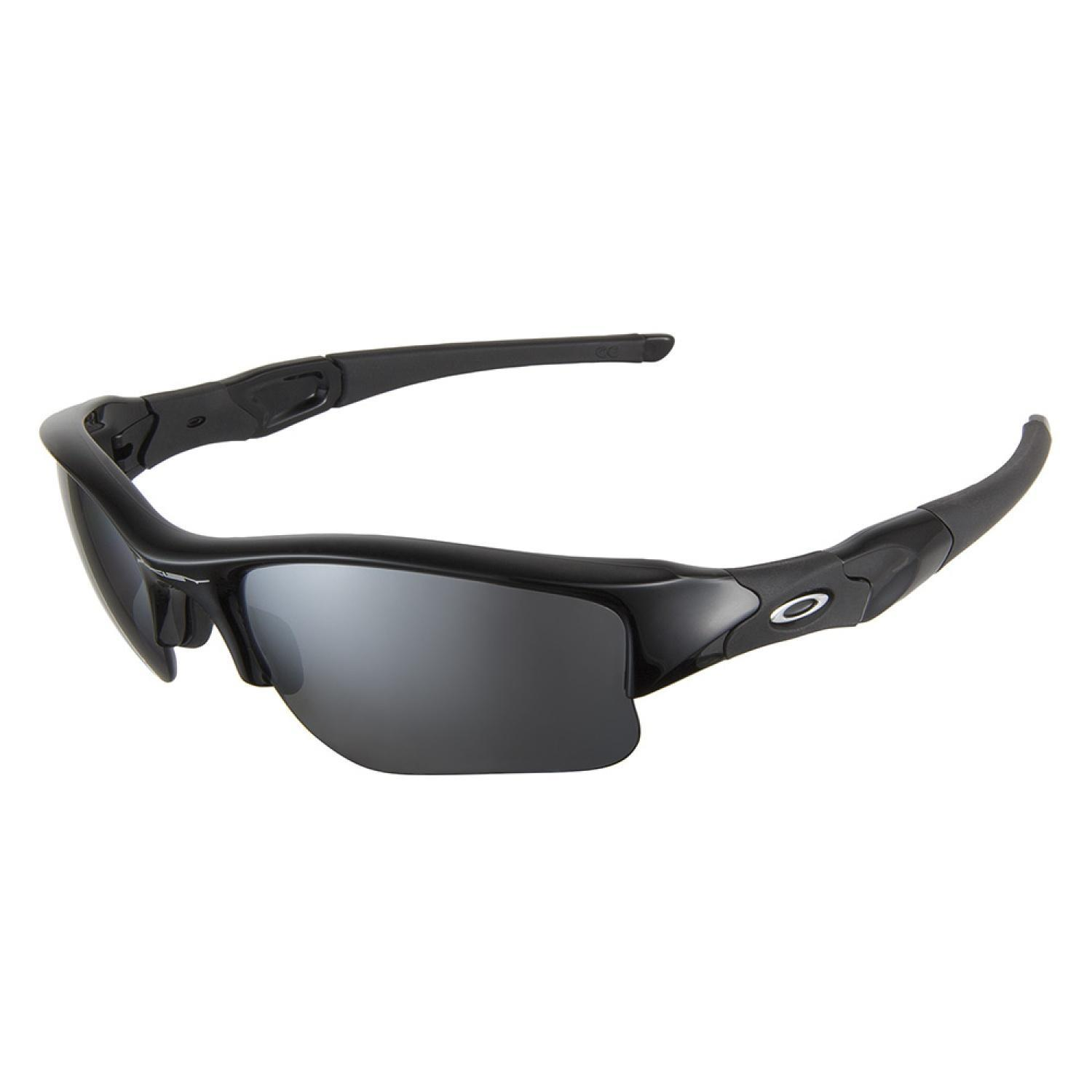 4704b69d87 Oakley Flak Jacket Jet Black L Black Iridium Polarized