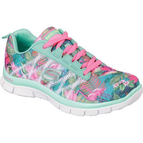 786fafa767cd Shop Girls  Skechers Skech Appeal Floral Bloom Sneaker Aqua Multi - Free  Shipping Today - Overstock - 10103595