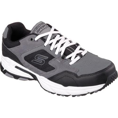 8a4342df86a6 Shop Men s Skechers Stamina Plus Trainer Charcoal Black - Free Shipping  Today - Overstock.com - 10103609