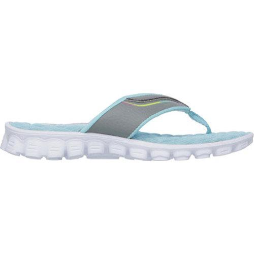e8627b769d119a ... Thumbnail Girls  x27  Skechers Skech Flex Summer Solstice Thong Sandal  Gray Turquoise ...