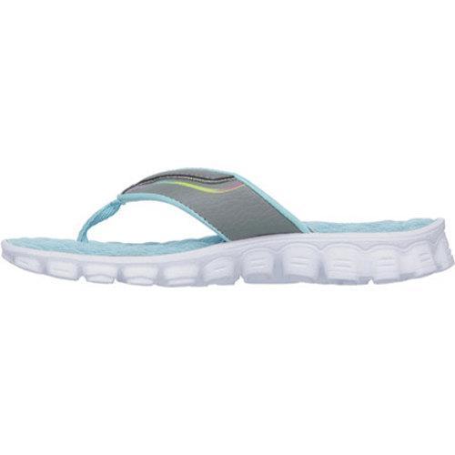 5c4a469dda6366 ... Thumbnail Girls  x27  Skechers Skech Flex Summer Solstice Thong Sandal  Gray Turquoise
