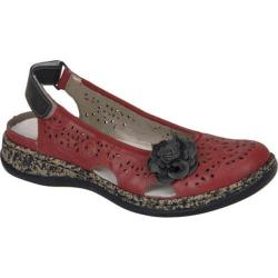 Women's Rieker-Antistress Daisy Sandal Rosso/Graphite Leather