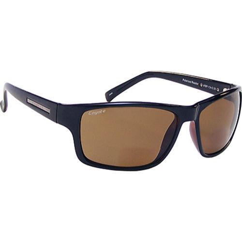 211e1bf545 Thumbnail Coyote Eyewear BP-13 Polarized Reader Sunglasses Black Brown ...