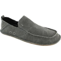 Men's Crevo Rasta Moccasin Charcoal Woven Canvas