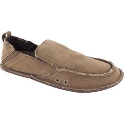Men's Crevo Rasta Moccasin Chocolate Canvas