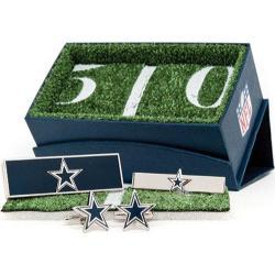 Men's Cufflinks Inc Dallas Cowboys 3-Piece Gift Set Blue
