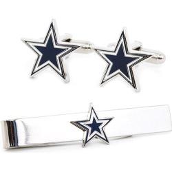 Men's Cufflinks Inc Dallas Cowboys Cufflinks and Tie Bar Gift Set Blue