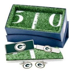 Men's Cufflinks Inc Green Bay Packers 3-Piece Gift Set Green