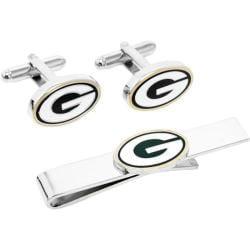 Men's Cufflinks Inc Green Bay Packers Cufflinks and Tie Bar Gift Set Green