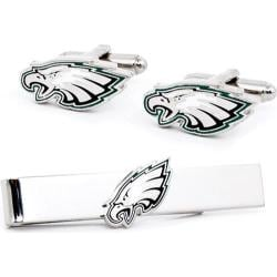Men's Cufflinks Inc Philadelphia Eagles Cufflinks and Tie Bar Gift Set Green/White