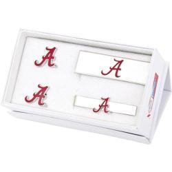 Men's Cufflinks Inc University of Alabama Crimson Tide 3-Piece Set Red