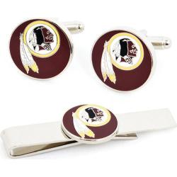 Men's Cufflinks Inc Washington Redskins Cufflinks and Tie Bar Gift Set Red/Multi