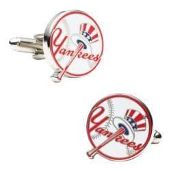 Men's Cufflinks Inc Yankees Baseball Cufflinks Red/White