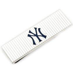 Men's Cufflinks Inc Yankees Pinstripe Money Clip White/Navy