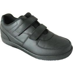 Women's Genuine Grip Footwear Slip-Resistant Injection Adjustables Black Leather