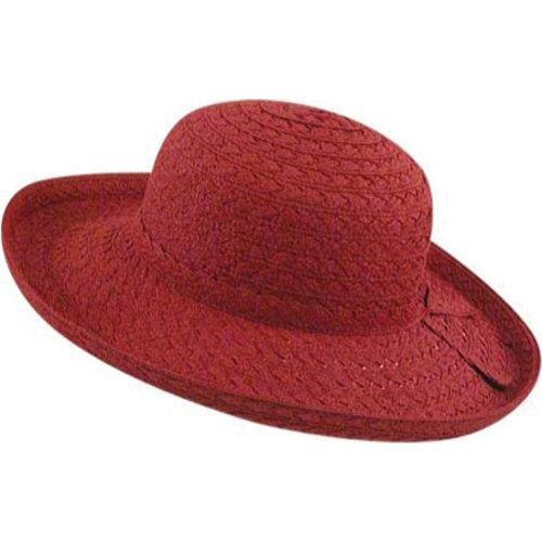 Shop Women s Pantropic Makawao Braided Sun Hat Chili - Free Shipping On  Orders Over  45 - Overstock.com - 10110124 d3d9a09bdeb4
