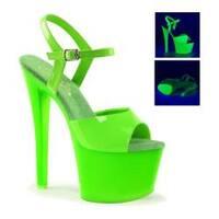 Women's Pleaser Sky 309UV Heel Neon Green/Green