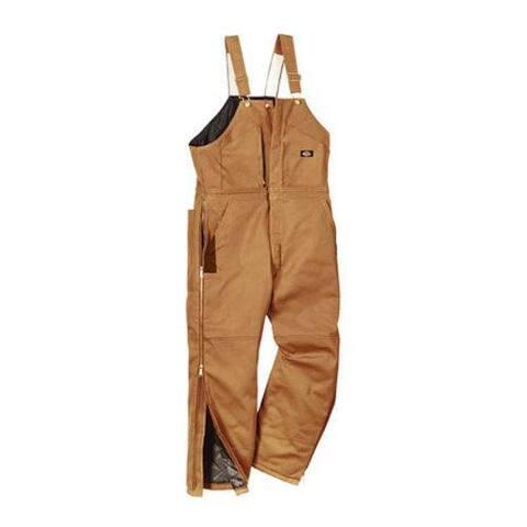 Men's Dickies Premium Insulated Bib Overall Tall Brown Duck