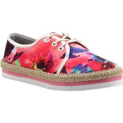 Women's Luichiny Easy Going Lace Up Pink Floral Fabric https://ak1.ostkcdn.com/images/products/88/723/P17252476.jpg?impolicy=medium