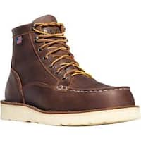 Men's Danner Bull Run Moc Toe 6in Cristy Brown Full Grain Leather