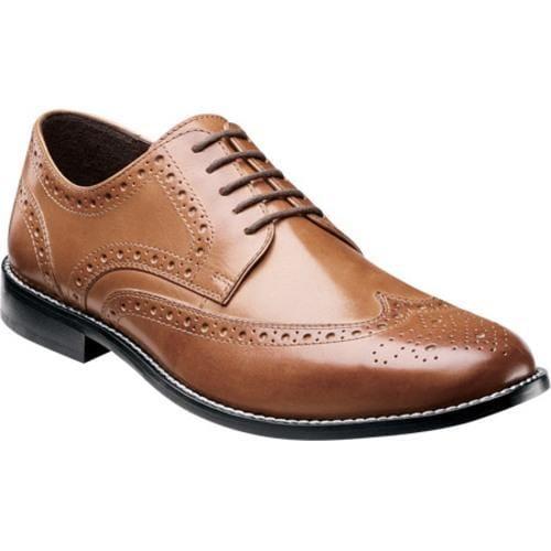 Men's Nunn Bush Nelson 84525 Wing Tip Oxford Cognac Smooth Leather