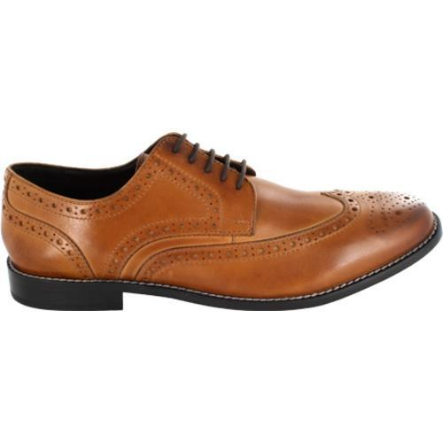 Men's Nunn Bush Nelson 84525 Wing Tip Oxford Cognac Smooth Leather - Thumbnail 1