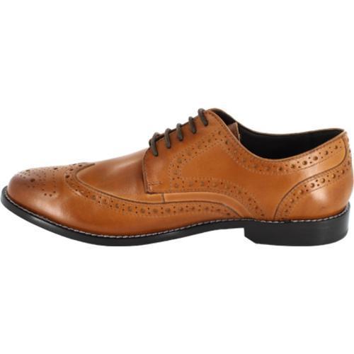 Men's Nunn Bush Nelson 84525 Wing Tip Oxford Cognac Smooth Leather - Thumbnail 2