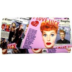 Women's I Love Lucy Signature Product I Love Lucy Collage Wallet LU610 Black