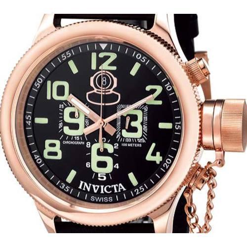 Men's Invicta Russian Diver Chronograph 7104 Black/Black - Thumbnail 1