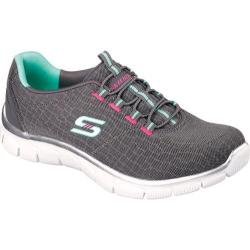 Women's Skechers Relaxed Fit Sport Empire Rock Around Walking Shoe Charcoal/Green