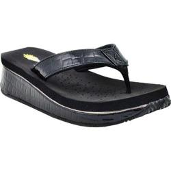 Women's Volatile Downunder Wedge Sandal Black Synthetic