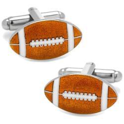 Men's Cufflinks Inc Football Cufflinks Brown