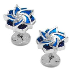 Men's Cufflinks Inc Geometric Flower Cufflinks Blue