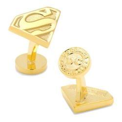 Men's Cufflinks Inc Gold Superman Shield Cufflinks Gold