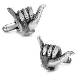 Men's Cufflinks Inc Hang Loose Cufflinks Silver