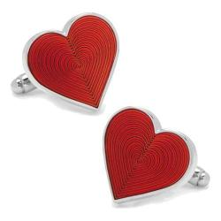 Men's Cufflinks Inc Heart Cufflinks Red