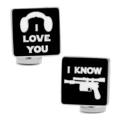 Men's Cufflinks Inc I Love You I Know Icon Cufflnks Black