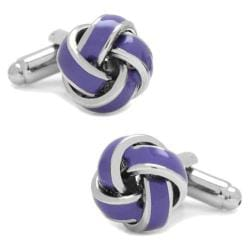 Men's Cufflinks Inc Lavender Knot Cufflinks Purple