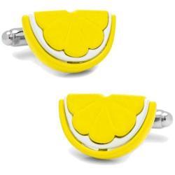 Men's Cufflinks Inc Lemon Slice Cufflinks Yellow