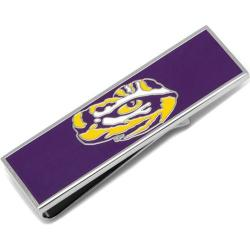 Men's Cufflinks Inc LSU Tiger's Eye Money Clip Purple
