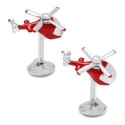 Men's Cufflinks Inc Moving Helicopter Cufflinks Silver