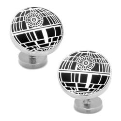 Men's Cufflinks Inc Recessed Matte Death Star Cufflinks Black