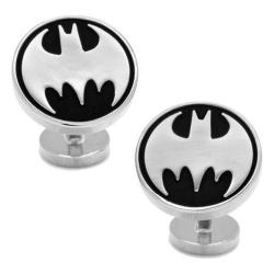 Men's Cufflinks Inc Recessed Vintage Batman Cufflinks Black