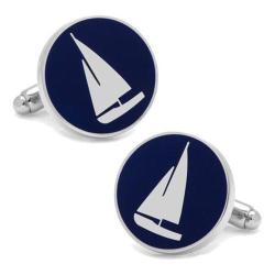 Men's Cufflinks Inc Sailboat Cufflinks Blue