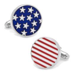 Men's Cufflinks Inc Stars Stripes American Flag Cufflinks Blue