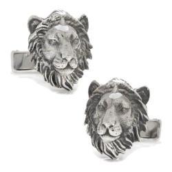 Men's Cufflinks Inc Sterling Lion Head Cufflinks Silver