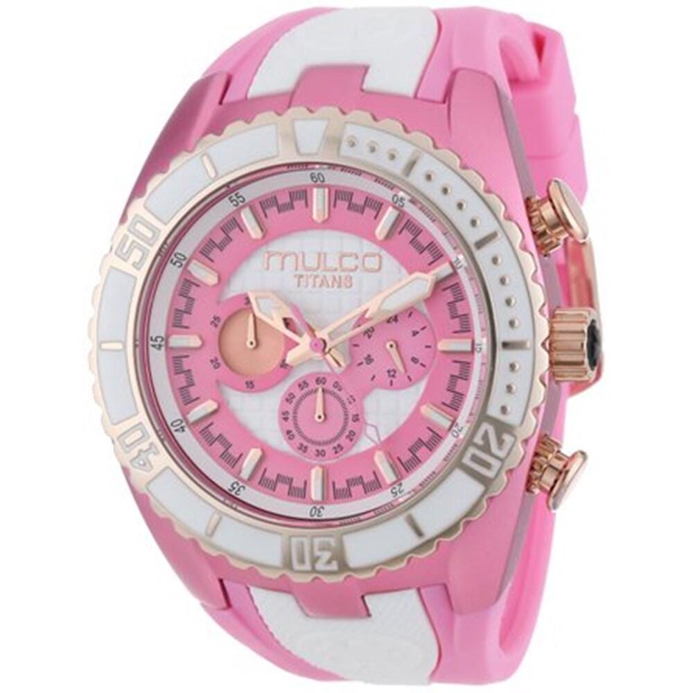 Mulco Women's Pink/ White Chronograph Swiss Watch (Mulco ...